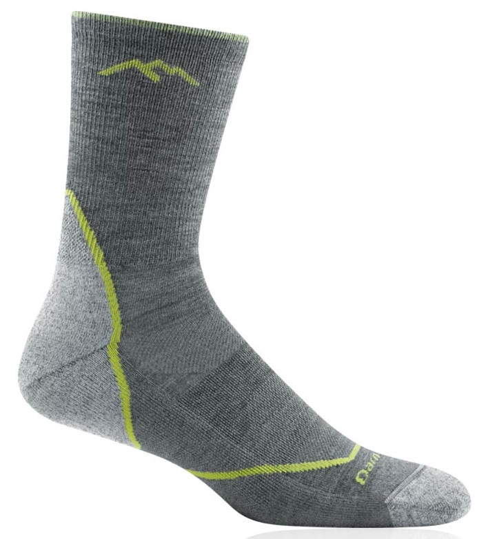 Darn Tough Adult Unisex Light Hiker Micro Crew Hiking Socks, M Grey