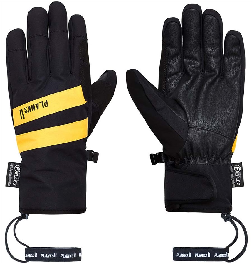 Planks Peacemaker Insulated Ski/Snowboard Gloves, XL Black