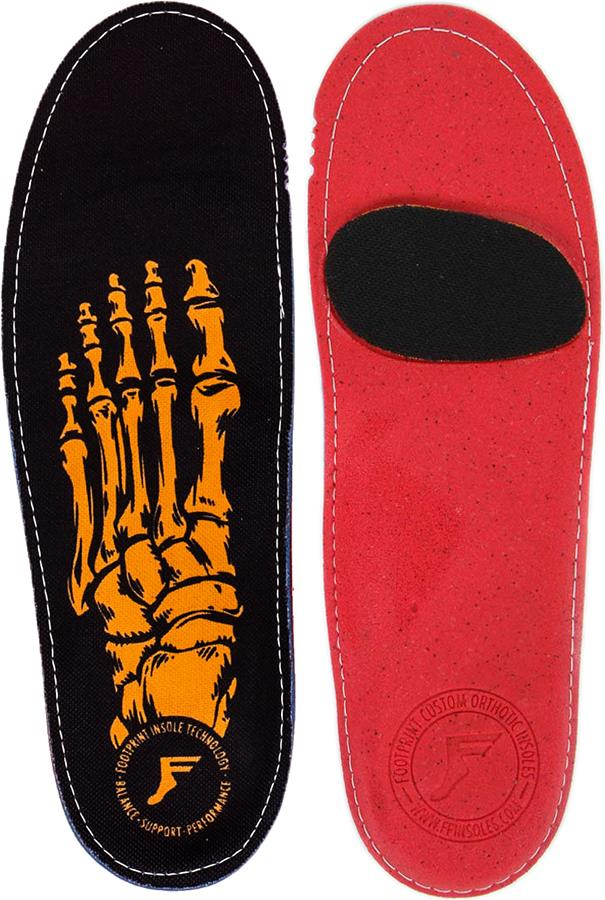 Footprint Skeleton Gold Game Changers Insoles, UK 9-9.5 Black/Gold