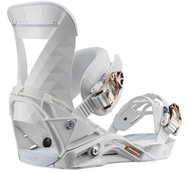 Salomon Womens Mirage Women's Snowboard Binding, S White 2020