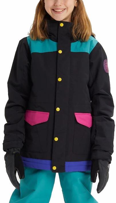Burton Elstar Girl's Snowboard/Ski Jacket, S True Black Multi