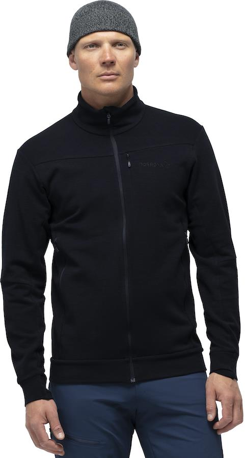 Norrona Falketind Warmwool2 Stretch Jacket Men's Fleece, M Caviar
