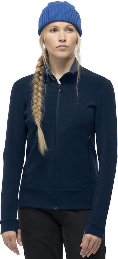 Norrona Falketind Warmwool2 Stretch Jacket Womens Fleece UK 8 Indigo