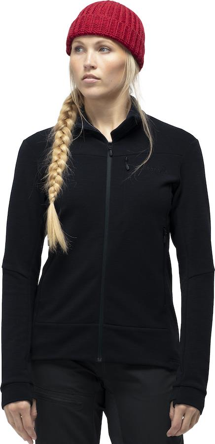 Norrona Falketind Warmwool2 Stretch Jacket Womens Fleece UK 8 Caviar