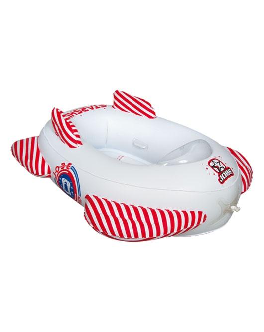 Jobe Starship Trainer Kids Towable Inflatable 2 Rider White Red