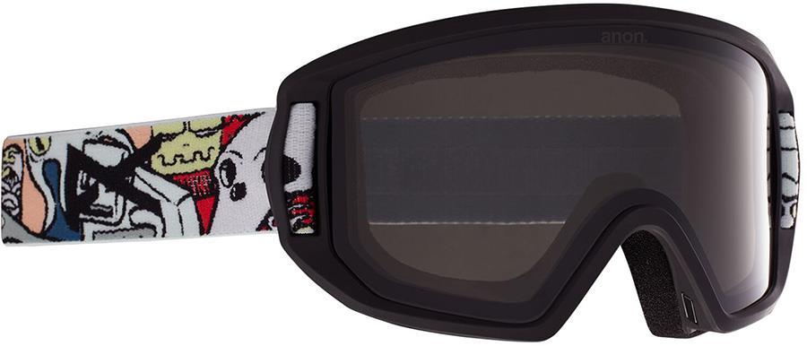 Anon Relapse Jr MFI Smoke Ski/Snowboard Goggles, S/M Crazy Black