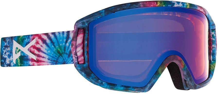 Anon Relapse Jr MFI Blue Amber Ski/Snowboard Goggles, S/M Tie Dye