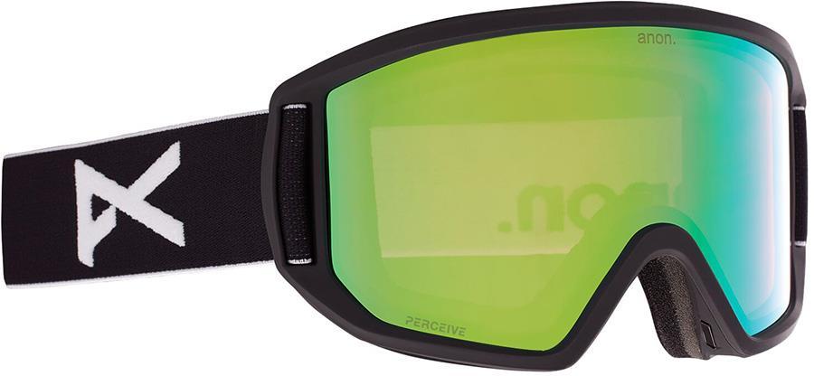 Anon Relapse Perceive Variable Green Ski/Snowboard Goggles M/L Black