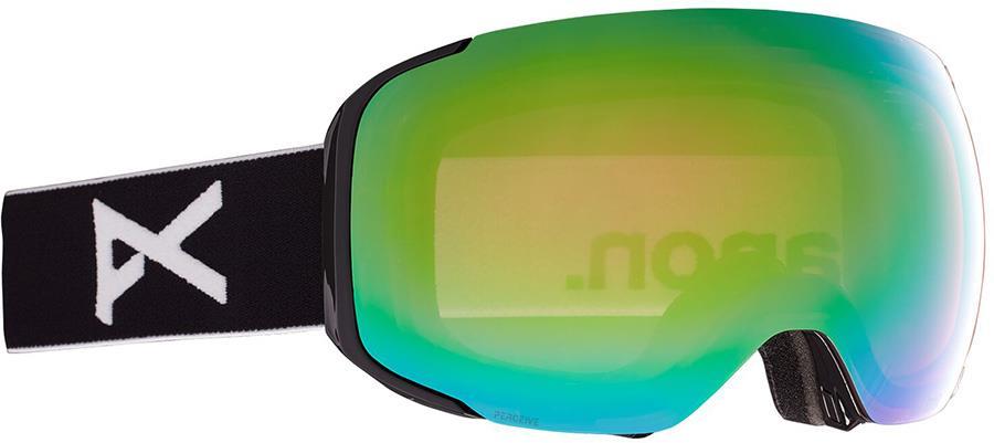 Anon M2 Perceive Variable Green Ski/Snowboard Goggles, M/L Black