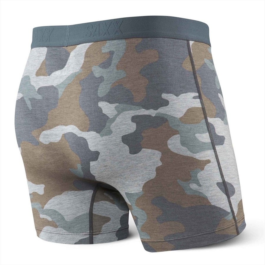 Saxx Mens Vibe Boxer Brief, S Grey Supersize Camo
