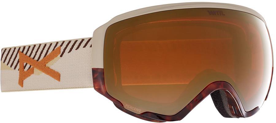 Anon WM1 Perceive Bronze Women's Ski/Snowboard Goggles, S/M Tort 3.0