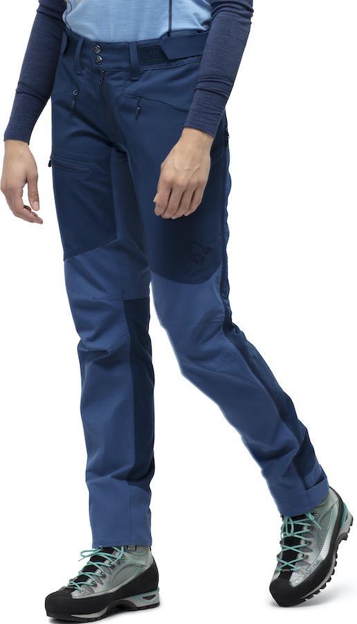 Norrona Falketind Flex1 Heavy Duty Women's Shell Pants, UK 10 Indigo
