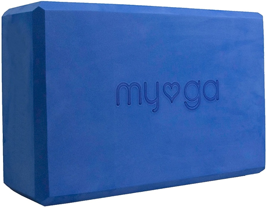 Myga Back To Basics Foam Yoga/Pilates Block, Royal Blue