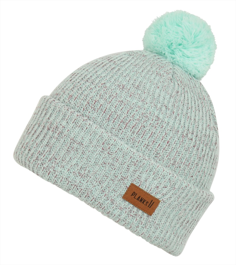 Planks Adult Unisex Team Ski/Snowboard Beanie Bobble Hat, One Size Cool Teal