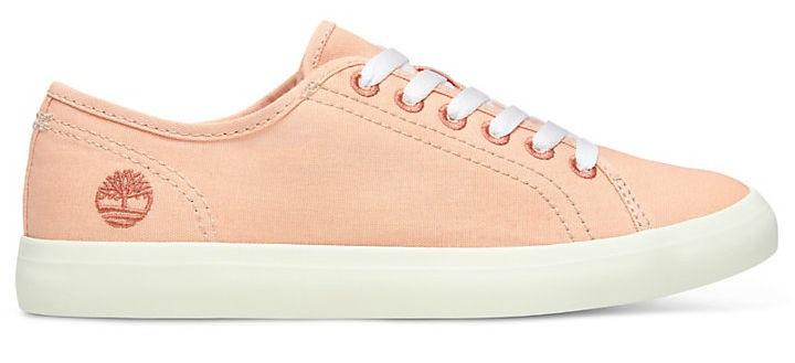 Timberland Womens Newport Bay Canvas Sneaker/Trainer, UK 4 Peach Ngt