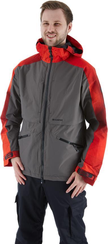 Bonfire Cache 3-in-1 Map Stretch Ski/Snowboard Jacket L Charcoal