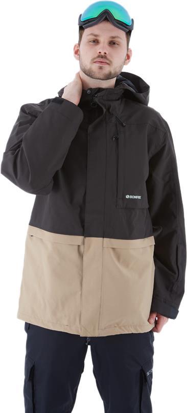 Bonfire Vector Men's Ski/Snowboard Jacket, M Black