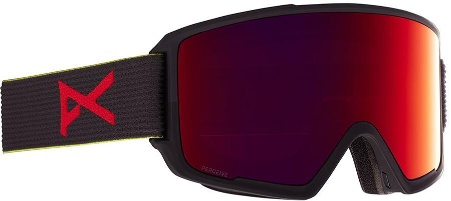 Anon M3 Perceive Sunny Red Ski/Snowboard Goggles, M/L MFI Black Pop