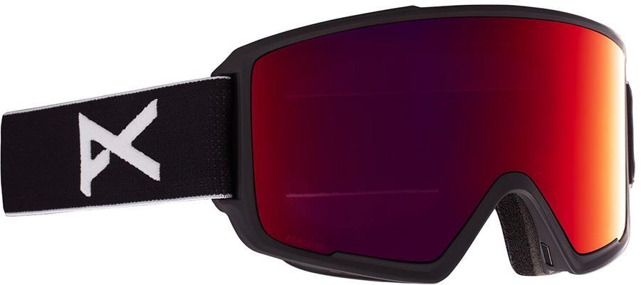 Anon M3 Perceive Sunny Red Ski/Snowboard Goggles, M/L MFI Black