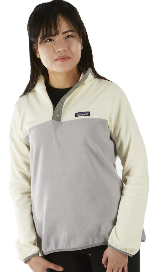 Patagonia Womens Lw Synchilla Snap-T Women's Pullover, Uk 10 Drifter/White