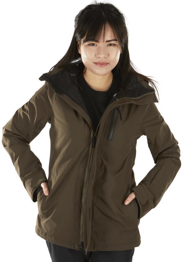 Volcom Eva Insulated Gore-Tex Womens Ski/Snowboard Jacket UK 8 Green