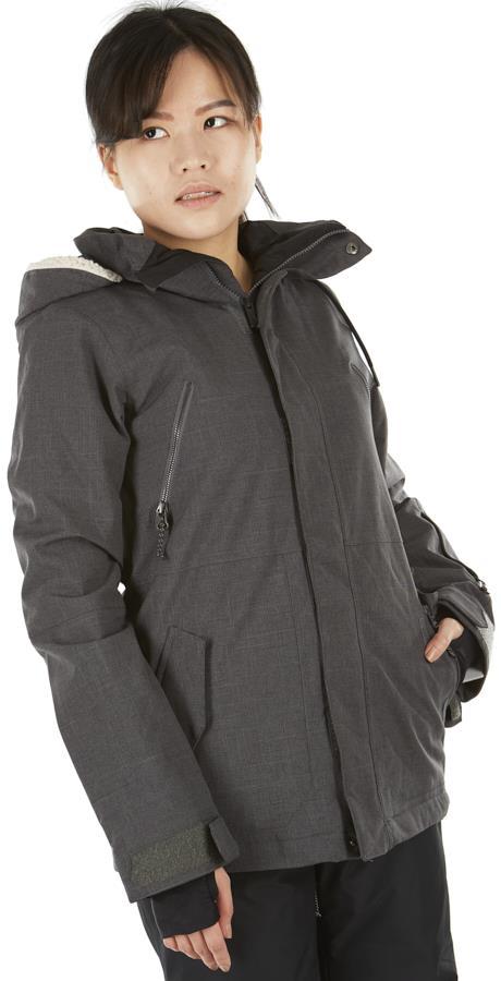 Volcom Shrine Insulated Women's Ski/Snowboard Jacket UK 8 Dark Grey