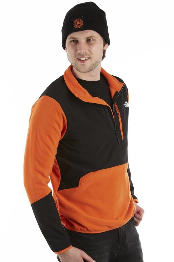 The North Face Adult Unisex Glacier Pro 1/4 Zip Fleece Jacket, S Flame