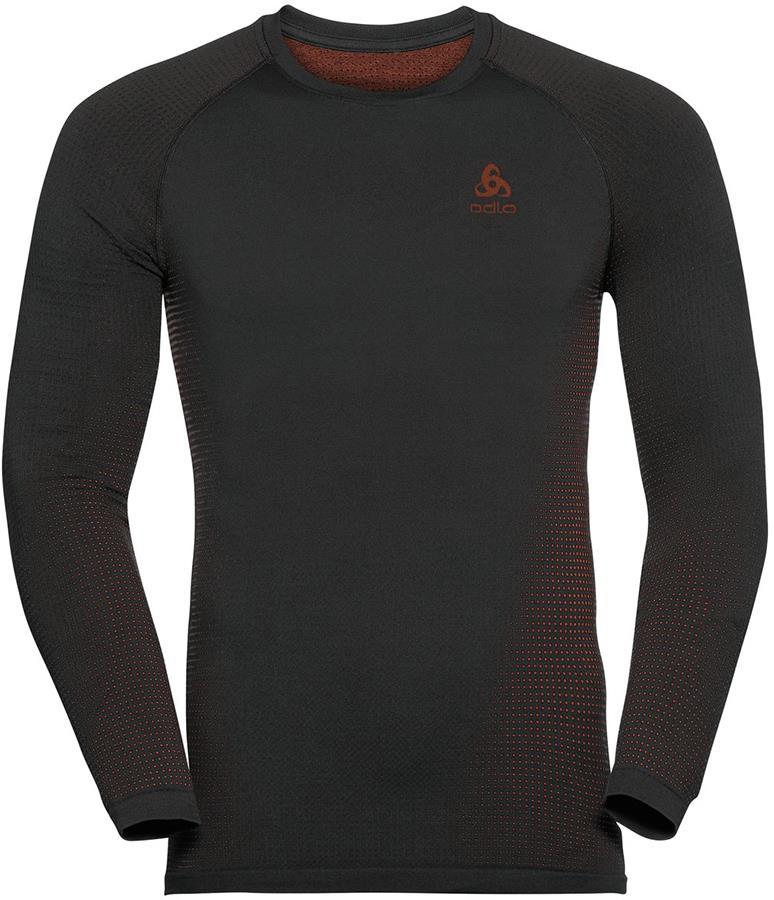 Odlo Performance Warm Eco Men's Base Layer Top, L Black