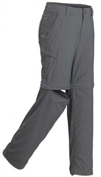 "Marmot Cruz Convertible Pant Boy's Trouser Shorts, 21"" Slate Grey"
