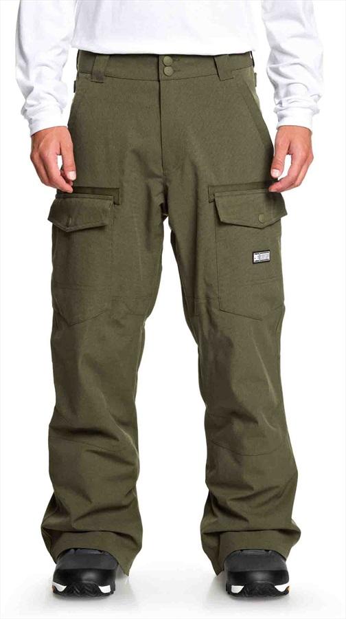 DC Code Ski/Snowboard Shell Pants, S Olive Night