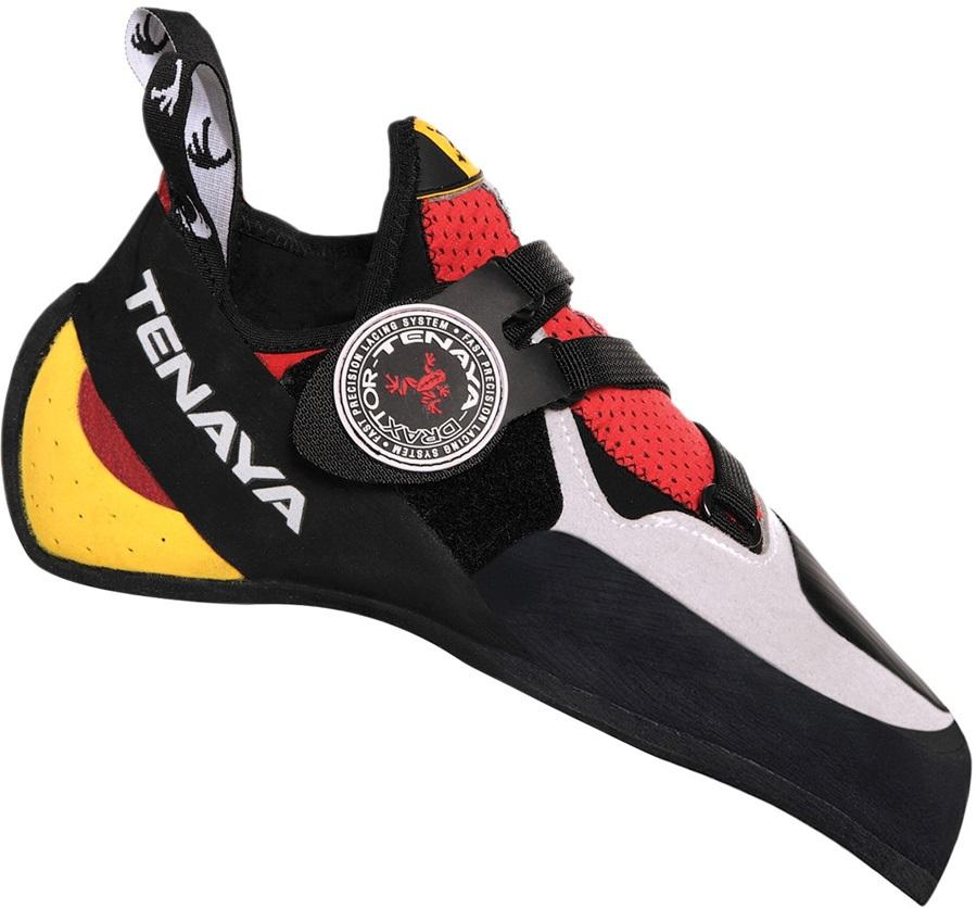 Tenaya Iati Rock Climbing Shoe: UK 8.5 | EU 42.6, Red/Grey/Yellow