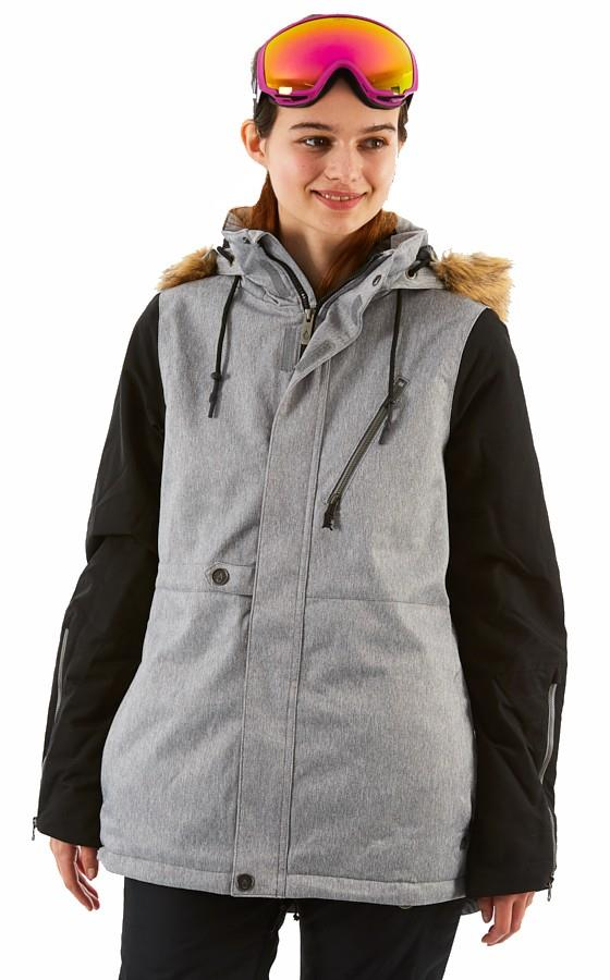 Volcom Fawn Insulated Women's Ski/Snowboard Jacket S Heather Grey