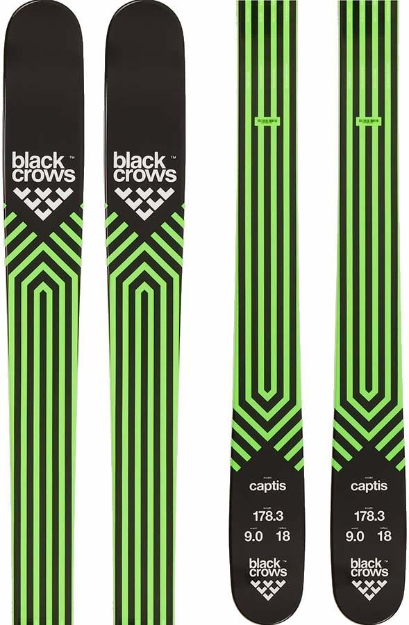 Black Crows Captis Skis 178cm, Black/Green, Ski Only
