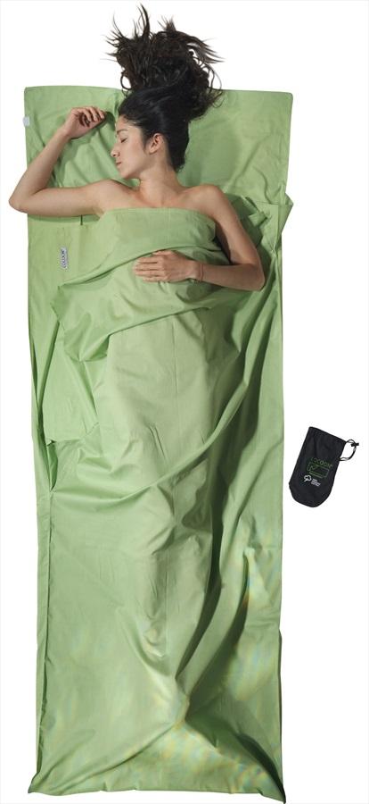 Cocoon TravelSheet Cotton Lightweight Sleeping Bag Liner Cactus Blue