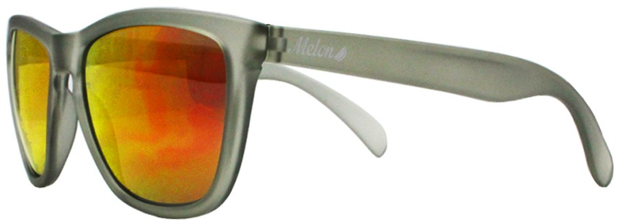 Melon Layback Red Chrome Polarized Sunglasses, M Slate Matte