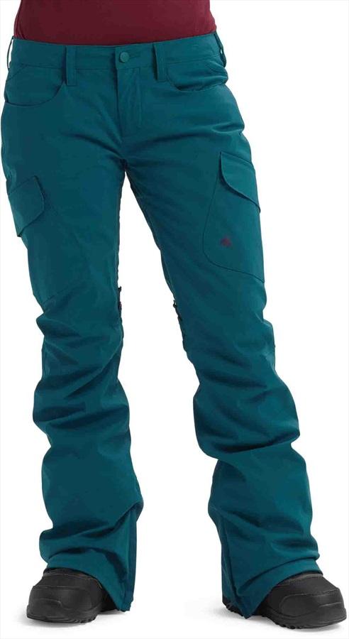 Burton Gore-Tex Gloria Tall Women's Ski/Snowboard Pants S, Deep Teal