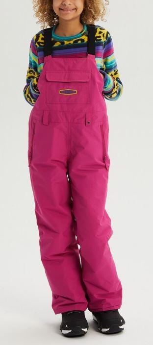 Burton Skylar Bib Kid's Ski/Snowboard Pants, M Fuchsia