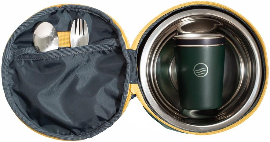 United By Blue The Meal Kit Eco-Friendly Travel Tableware, Os Blue Slate