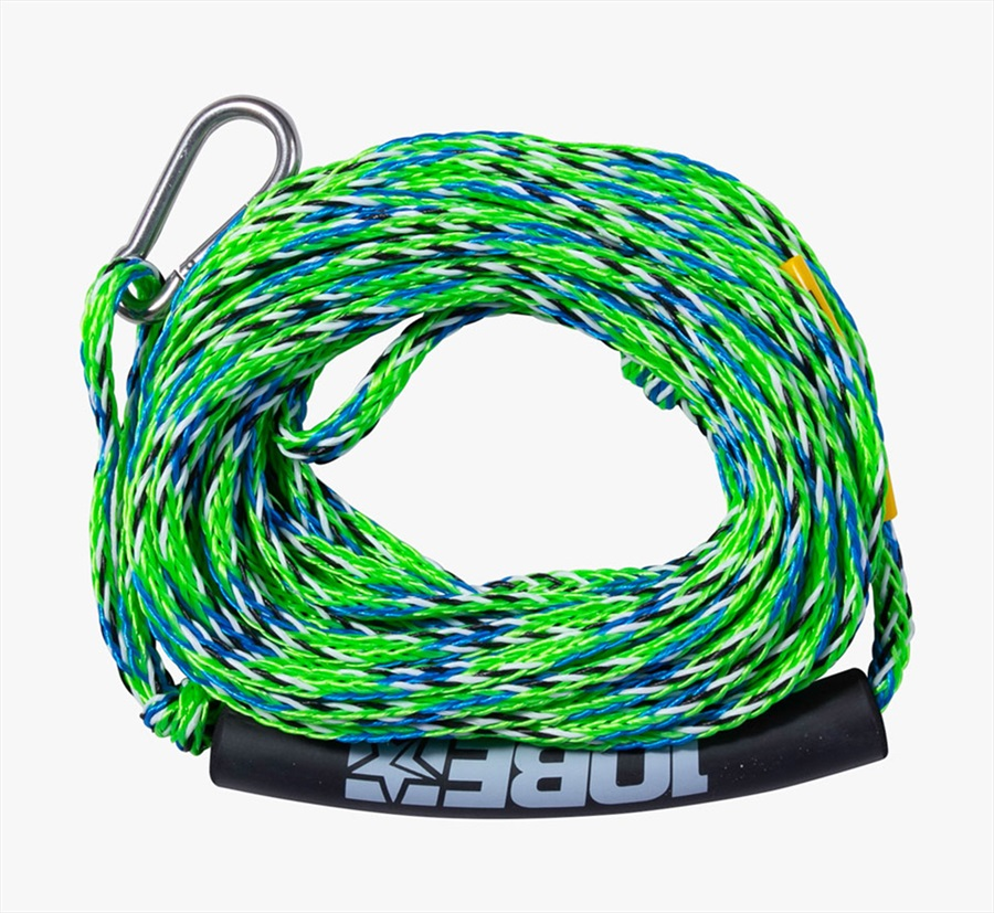 Jobe Heavy Duty Towable Tube Rope, 2 Rider With Hook Lime 2021