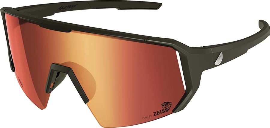Melon Adult Unisex Alleycat Red Chrome Performace Sunglasses, M/L Black/Silver