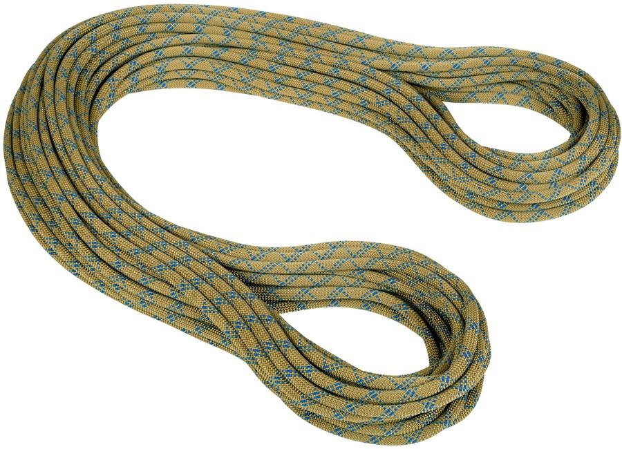 Mammut Gym Classic Rock Climbing Rope, 50m X 9.9mm Olive-Surf