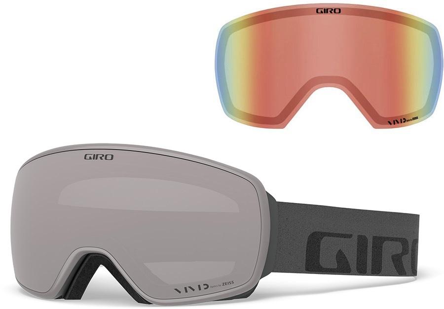 Giro Agent Vivid Onyx Ski/Snowboard Goggles, L Grey Wordmark