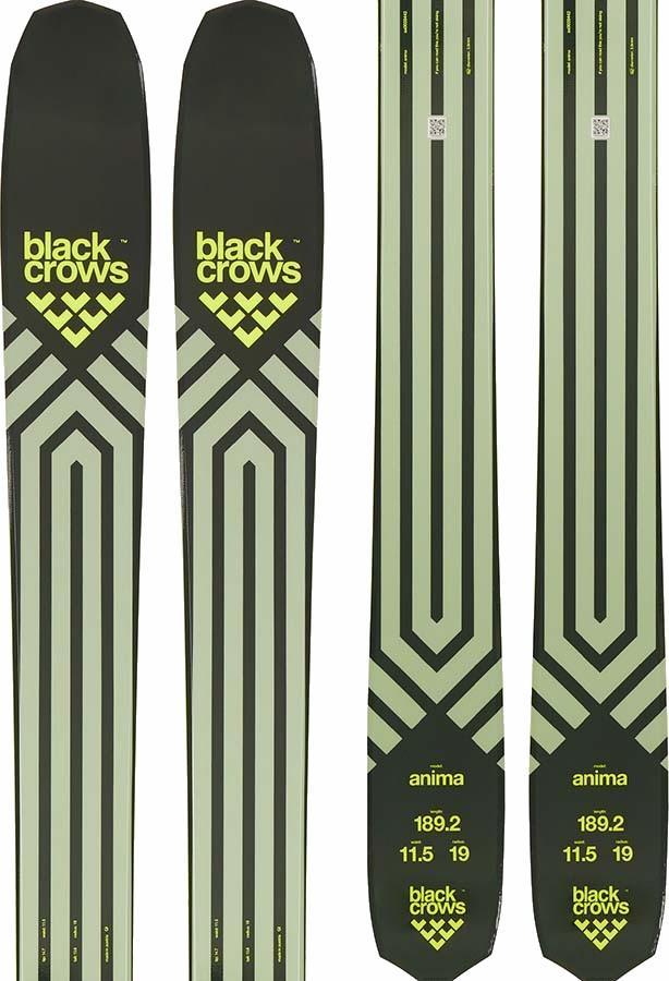 Black Crows Anima Skis 176cm, Green/Yellow, Ski Only