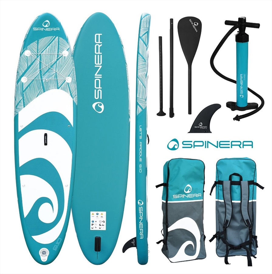 """Spinera Let's Paddle ISUP Paddleboard Package, 11'2"""" Blue 2021"""