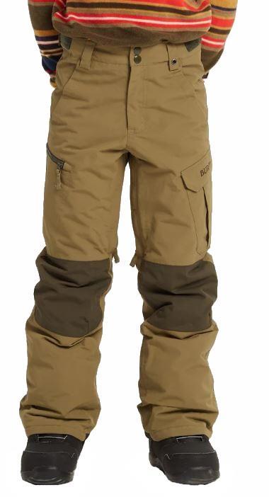 Burton Boys Exile Cargo Snowboard Ski Pants, S Martini Olive
