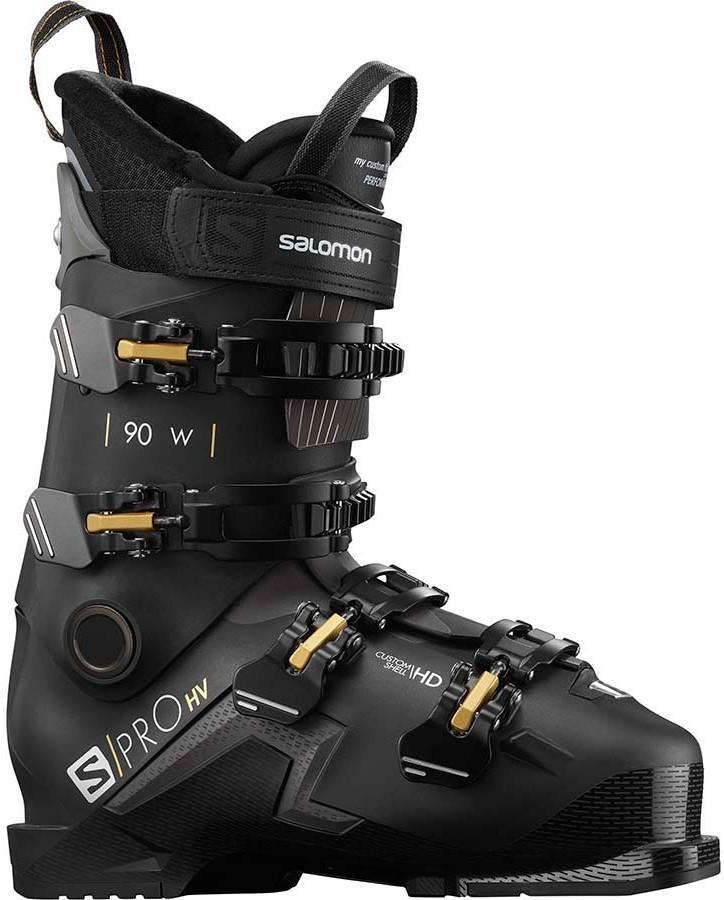 Salomon S/Pro HV 90 W Women's Ski Boots, 24/24.5 Black/Belluga 2021