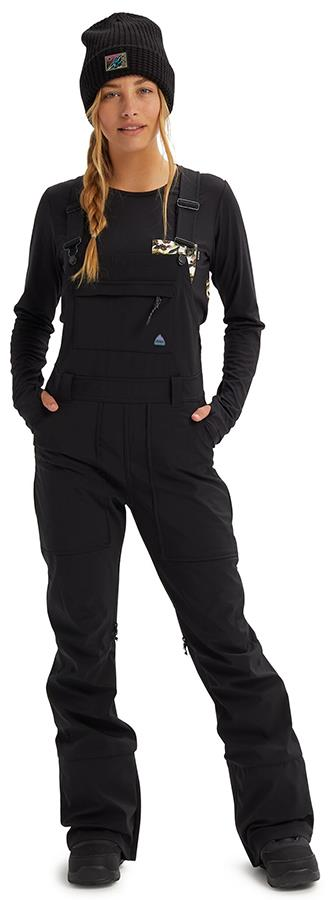 Burton Avalon Softshell Women's Snowboard/Ski Bib Pants XL Black