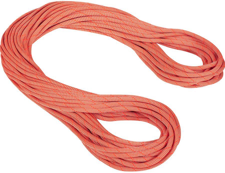 Mammut 9.8 Crag Classic Rock Climbing Rope, 50m X 9.8mm Orange-White
