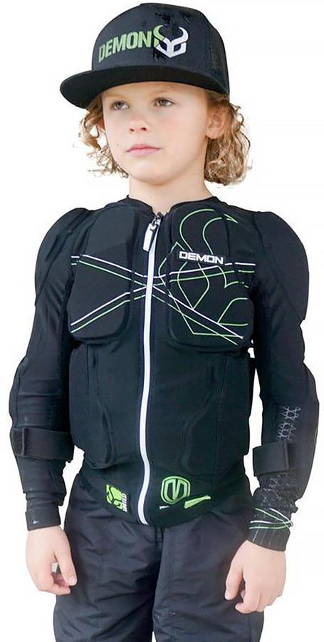 Demon Flex Force Pro Youth Ski/Snowboard Body Armour Top, S Black