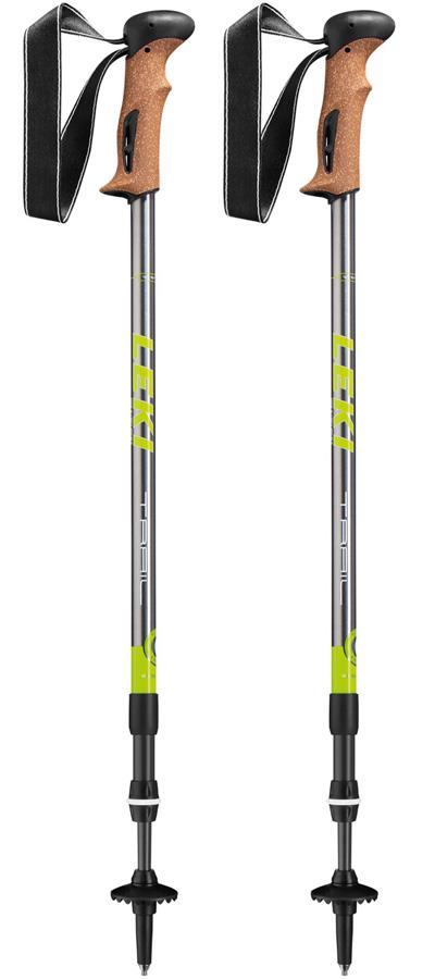 Leki Trail AS Anti-Shock Trekking Poles, Black/Silver
